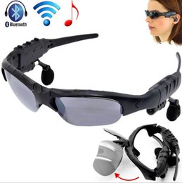 sport mp3 earphone bluetooth Australia - Sunglasses Bluetooth Headset Wireless Sports Headphone Sunglass Stereo Handsfree Earphones mp3 Music Player With Retail Package