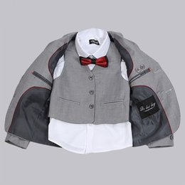 PinstriPe flats online shopping - Agile Formal Boys Three Piece Suit Hot Sale Classic Children Wear Winter Flat Single Breasted Baby Boy Clothing