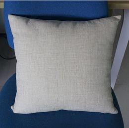 Fodere per cuscino in poli lino naturale da 16x16 pollici per fodere per ricamo in soia a sublimazione semplice in tela da imballaggio in Offerta