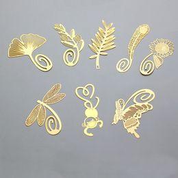 Свадьба пользу золотые закладки перо оливковое гинкго пшеницы подсолнечника стрекозы обезьяна металл китайский стиль творческие закладки DHL Бесплатная доставка на Распродаже