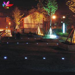 wholesale solar power 3 led buried lamp light outdoor path way garden under ground decking15