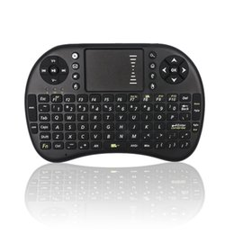 China Wholesale- EastVita I8 Keyboard Squirrel 3-color Backlight Mini Wireless 2.4Ghz Keyboard Backlit Perfect for Raspberry Pi PC Android TV box cheap mini pc video player suppliers