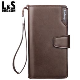 $enCountryForm.capitalKeyWord Canada - Wholesale- Men Wallets Top Quality Male Clutch Big Capacity Cellphone Bag Leather wallet men purse Zipper Pocket Man Long Purse MW014