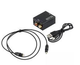 Toslink opTical fiber online shopping - Digital Adaptador Optic Coaxial RCA Toslink Signal to Analog Audio Converter Adapter with fiber Optical cable