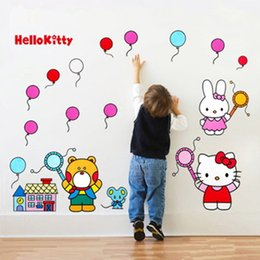 Stickers For Walls Kids NZ - Decorative Wall Stickers Cat Kitty Decals Home Decor Poster for Kids Rooms Adhesive To Wall Decoration Removable with Cat Kitty