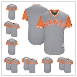 ... Majestic Cream Cool Base Custom Jersey San Francisco Giants Madison  Bumgarner Buster Posey Brandon Crawford Hunter Pence 2017 Players Weekend  Authentic ... bcc51a34f