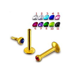 Lip Piercing Wholesale NZ - 11 Colors Hot Sale Fashion Diamond Lip Ring & Stud Stainless Steel Labret Piercing Jewelry Gold Bar Ear Stud Nose Ring Body Piercing Jewelry