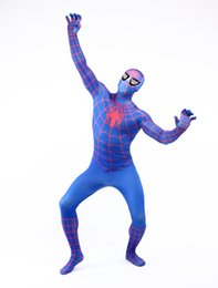 Spider man full body online shopping - DHL shipping Man Full Body Hood Suit Lycra Zentai Costume Spider Man Symbiote Costume