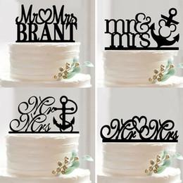 Wholesale wedding cake decorating supplies nz buy new wholesale 20pcs wedding decoration valentines day black acrylic the cake topper mr mrs cake accessory decorating junglespirit Choice Image