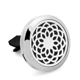 $enCountryForm.capitalKeyWord NZ - 5PCS Sunflower 316L Stainless Steel Car Perfume Locket For 30MM Essential Oil Diffuser With Free Pads