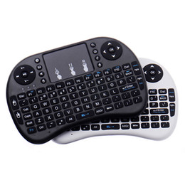 wireless keyboard touchpad for tv UK - Mini Wireless Keyboard Rii i8 2.4GHz Air Mouse Keyboard Remote Control Touchpad For Android Box TV X96 Mini S905W 3D Game Tablet