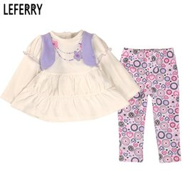 baby girl winter birthday dresses 2019 - Wholesale- 2016 New Spring Baby Girl Clothes Sets Infant Baby Girl Clothing Set Birthday Party Dresses Set Leggings Cott