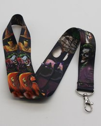 Superhero Keychains Canada - Hot!20pcs Superhero Marvel DC Batman The Joker Lanyard Strap Badge ID Running Cell Holder Key Chains New