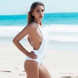 $enCountryForm.capitalKeyWord Australia - Straps women Swimwear Backless Sexy One Piece Swimsuit Black and white women bathing suits