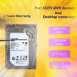 LLLOFAM Dahili SATA HDD 3.5 '' Inç 2000 GB CCTV Kamera Için 2 TB Sabit Disk Sürücüsü AHD DVR NVR video Sistemi ve PC masaüstü Bilgisayarlar