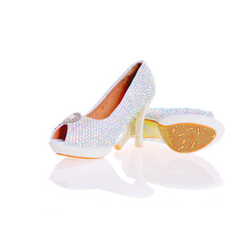 $enCountryForm.capitalKeyWord UK - 2017 Newest Designer Elegant AB Crystal Peep Toe Nightclub Rhinestone With White Pearls Bridal Wedding Shoes Handmake Stiletto Women Shoes