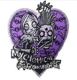 Rock Punk Band Patch UK - MY CHEMICAL ROMANCE MCR Logo Music Band Iron On Sew On Patch Heavy Metal Tshirt TRANSFER MOTIF APPLIQUE Rock Punk Badge