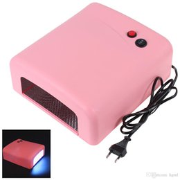 Barato X Uv Art-Nail Art Dryer Gel Curing UV Lamp 4 X 9W Light Tube equipamentos com 120 segundos de função de temporizador NAS_232
