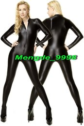 sexy halloween costume spandex body suit Canada - Sexy Black Lycra Spandex Bodysuit Catsuit Costumes Unisex Sexy Body Suit Unisex Cosplay Costumes Outfit New Halloween Cosplay Suit M037