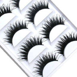 1b06941a584 5 Pairs Women Lady Natural Thick False Eyelashes Long Handmade Fake Eye  Lashes Extension Makeup Tools Free shipping