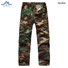 baggy jersey pants Canada - High Quality 2017 Outdoor IX7 Commando Baggy Cargo Tactical Army Elastic Waist Cotton Military Camouflage Workout Pants Men