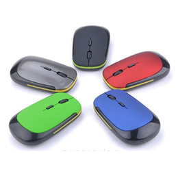 Thin Mini Laptop Canada - Wireless Mouse 3500 Fashion Ultra-thin 2.4GHz Mini Wireless Gaming Mouse 1600DPI Optical Mice For Computer Laptop