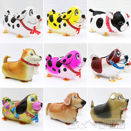 Kids Christmas Helium Balloons Canada - 18 Inch Walking Pet Animal Dachshund Helium Aluminum Foil Balloon Cute Kids Baloon Toys Gifts For Christmas Wedding Birthday Party Supplies