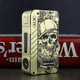 $enCountryForm.capitalKeyWord Canada - 100% Authentic Flagship Skull Version Dovpo M VV 280W Box Mod with 4 LED Indicator Lights fit Dual 18650 Battery Vape Mods