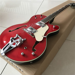 Chinese Custom Electric Guitar NZ - New Chinese good guitar custom shop guitar custom Electric Guitars,red double F hole,beautiful,can be a lot of custom,Like photos