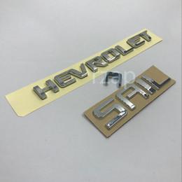 $enCountryForm.capitalKeyWord Canada - 2pcs set For Chevrolet Sail Lettering Logo Decal Car 3D ABS Tailgate Emblem Badge Nameplate Sticker