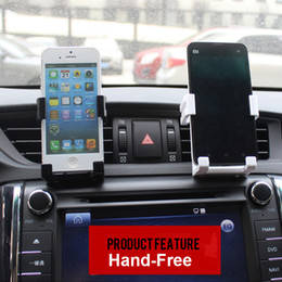 support air iphone UK - Stand Holder For Smart Phone Cell Phone Car Holder Kit Air Vent Mount GPS Accessories For Samsung Stand Support Mobile Phone Holder