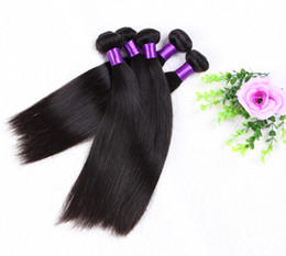 Indian Straight Hair Girls Canada - Wonderful Girl Straight Wave Hair weft  indian Virgin Human Hair Extension 50g pcs 6PC LOT straight hair Bundle dhl FastShipping
