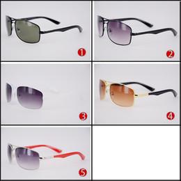 beff72eceeea1 Atacado retângulo de metal praia óculos de sol para mulher e homem dos  homens baratos retro condução óculos de sol quente marca designer de óculos  para ...