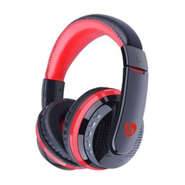 Chinese  Bluetooth Wireless Headphone Wearing headphones With Card FM earphone head-mounted Foldable Headset With retail pack For LG Iphone Samsung manufacturers
