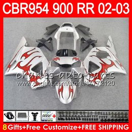 $enCountryForm.capitalKeyWord NZ - Body For HONDA CBR 954RR CBR900RR CBR954RR 2002 2003 66NO34 Red flames CBR 900RR CBR954 RR CBR900 RR CBR 954 RR 02 03 Fairing kit 8Gifts