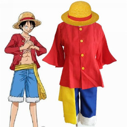 Monkey Halloween Costumes Canada - Kukucos Anime ONE PIECE 2nd Generation Monkey D Luffy Cosplay Costume After 2 years Halloween Party Dress Up