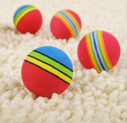 Discount rainbow balls toys - Baby Pet Toys Puppy Dog And Cat Toys Chew Q Rainbow Ball Toys For Cat Pet Products JIA603