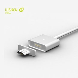 Discount samsung original data cable - Original Wsken Metal Magnetic Cable Data Charger Cable For Micro USB Phone Samsung Huawei Xiaomi Lenovo (with 2 micro ad
