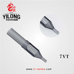 tattoo disposable tips NZ - YILONG Hot Sell 7VT 50Pcs Disposable Grey Tattoo Tips Nozzle Supply Tattoo Supply Pro Disposable Tattoo Tips Nozzles