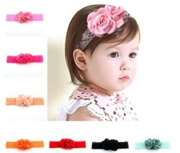 $enCountryForm.capitalKeyWord Canada - 2017 new Organza pale pink blossoms baby headbands han edition baby hair girl's hair hoop tiara headband