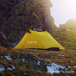 China Wholesale- 2017 LanShan 2 3F UL GEAR 2 Person Oudoor Ultralight Camping Tent 3 Season Professional 15D Silnylon Rodless Tent supplier camouflage camping gear suppliers