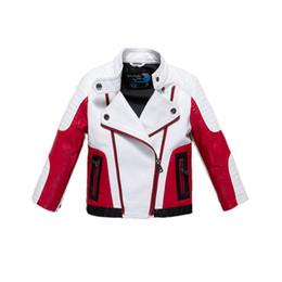 Boys pu leather jackets online shopping - fashion boy causal jacket coat novelty leather PU jacket coat for yrs boys students kids children outerwear leather clothing