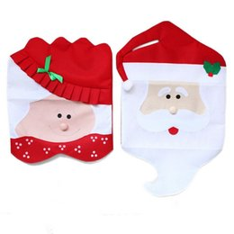 Lovely Christmas Chair Covers Mr. U0026 Mrs. Santa Claus Christmas Decoration  Dining Room Chair Cover Home Party Decor WA1495 Cloth Chair Covers Home  Outlet