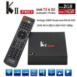Wifi satellite tv box online shopping - KII Pro DVB S2 DVB T2 Android Smart TV Box Amlogic S905 Quad Core G G Mini PC Wifi Satellite Terristrial K Media Player D Home Movie