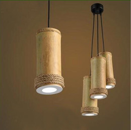 bamboo lighting fixtures. single head led pendant lamp for bedroom creative bamboo light fixture simple helmp rope hanging led lamparas luminair lighting fixtures d
