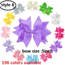 $enCountryForm.capitalKeyWord NZ - 5 style available ! Baby Girl Grosgrain Ribbon 5'' Large Boutique Double layers Hair Bows Alligator Clips For Teens Kids Pack 20pcs