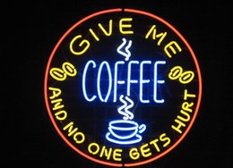 coffee neon open sign Australia - New HIGH LIFE Neon Beer Sign Bar Sign Real Glass Neon Light Beer Sign New Give Me Coffee Shop Cafe Business Open Neon 24x20