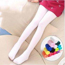 Velour Leggings Canada - Wholesale Spring Summer Kid's Leggings with Socks High Quality Thin Legging for Little Girls White Velvet Dance Performance Clothing