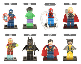 $enCountryForm.capitalKeyWord Australia - DHL 60sets Mini Super Heroes figure Hulk Batman Spiderman Wolverine Deadpool Robin Iron Man Thor Building Blocks Toys