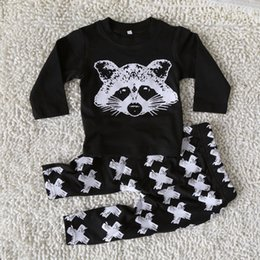 Wholesale Boys Girls Baby Clothing Outfits Printed winter Kids Clothes Sets Cute Printed tshirts Harem Pants Leggings Set Clothing Suits